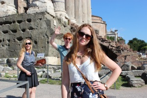 Tourists in the Roman Forum
