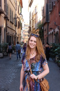 Somewhere in Rome, about to eat gelato again probably